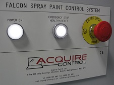 Acquire Control Panel Label Engraving