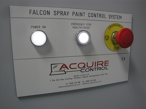 Control Panel Engraving Label