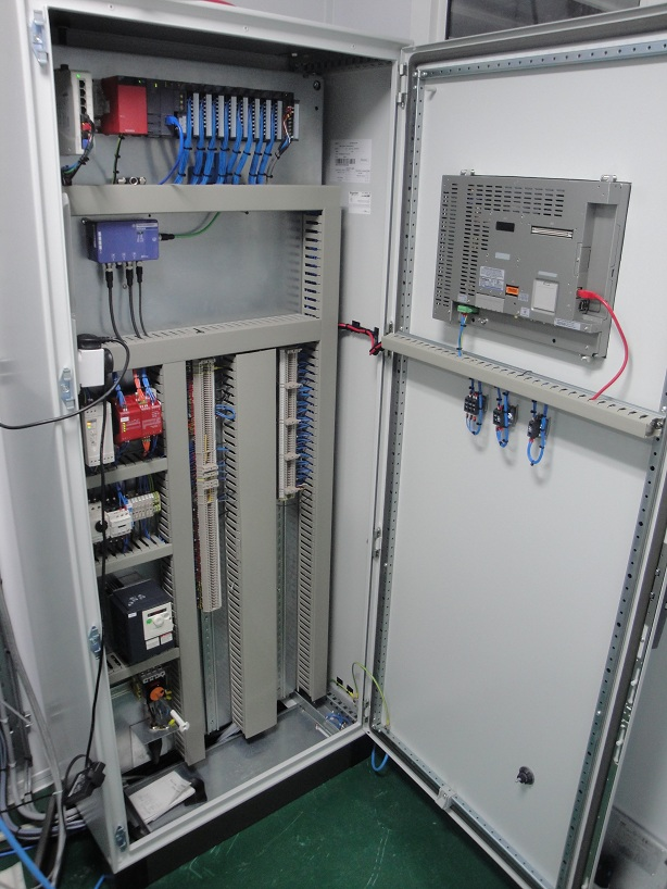 Inside PLC Control Panel